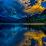 Reflections in Lake San Cristobal